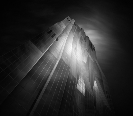 Reflections, DC Tower, Vienna - B&W Architecture Fine Art Series