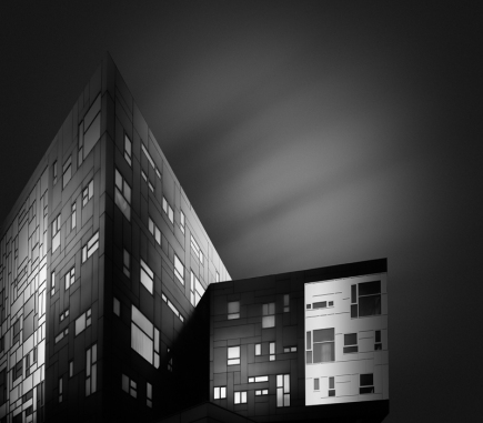Darkness, Vienna University of Economics and Business I - B&W Architecture Fine Art Series
