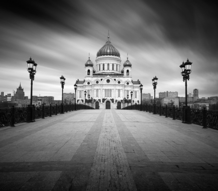 Cathedral of Christ the Saviour II, Moscow - B&W Architecture Fine Art Series