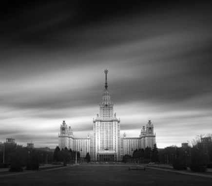 Lomonosov Moscow State University - B&W Architecture Fine Art Series