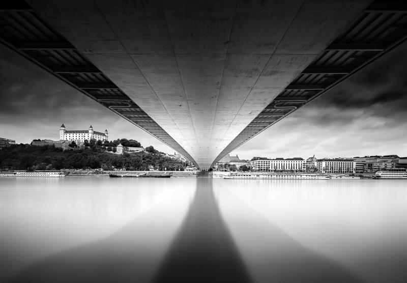Bratislava Castle And New Bridge B W Architecture Fine Art Series