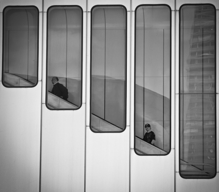 Metro Station in Vienna - B&W People Fine Art Series