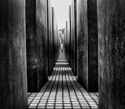 The Holocaust Memorial, Berlin - B&W People Fine Art Series