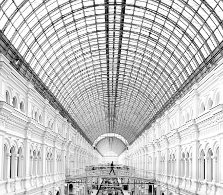 Gum Department Store, Moscow - B&W Architecture Fine Art Series