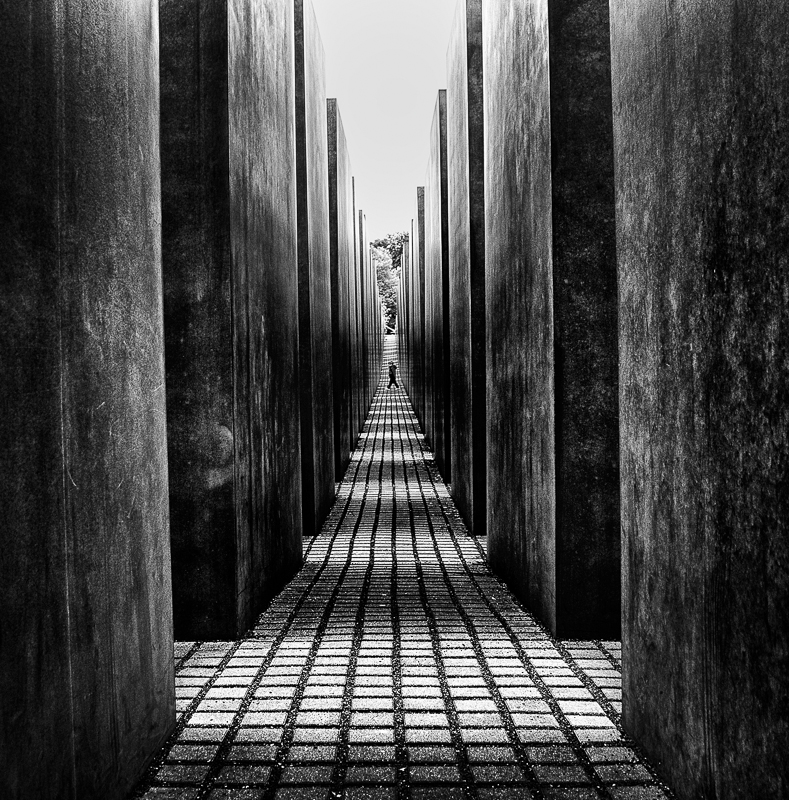 The holocaust memorial berlin bw people fine art series