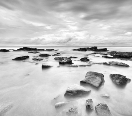 Silent Rocks, Bali - B&W Landscapes - Seascapes Fine Art Series