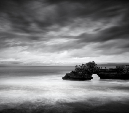 Reef at Tanah Lot, Bali - B&W Landscapes - Seascapes Fine Art Series