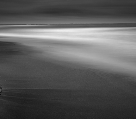 Black sand Beach in Bali - B&W Landscapes - Seascapes Fine Art Series