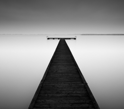 Pier in Morbisch am See, Austria - B&W Landscapes - Seascapes Fine Art Series
