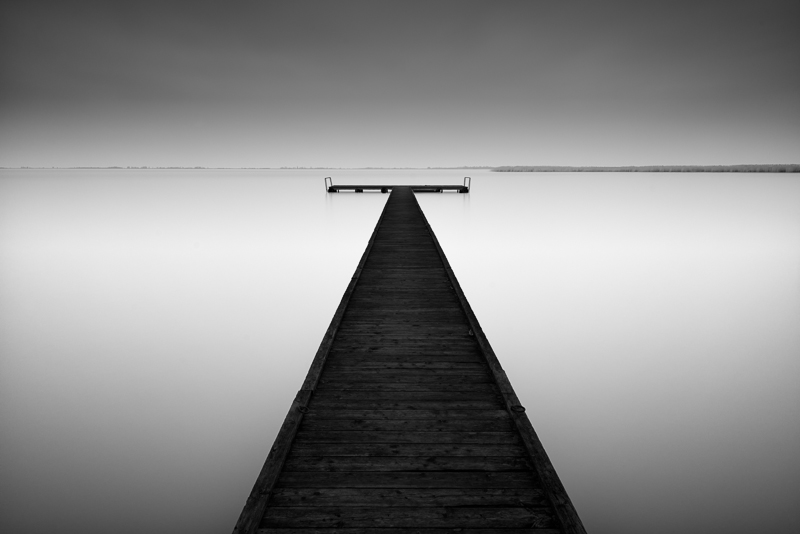 Pier in morbisch am see austria bw landscapes seascapes fine art series