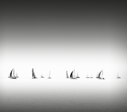Sailing, Austria - B&W Landscapes - Seascapes Fine Art Series