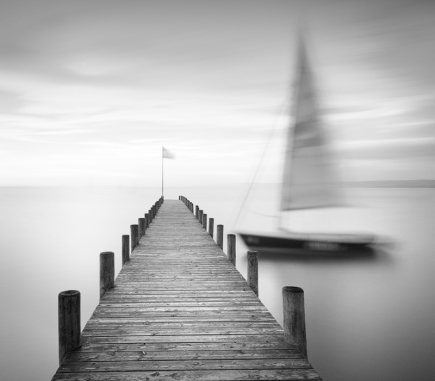 Lost, Neusiedler am See, Austria - B&W Landscapes - Seascapes Fine Art Series