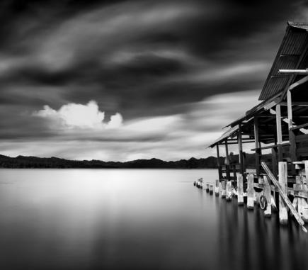Batur Lake II, Bali - B&W Landscapes - Seascapes Fine Art Series