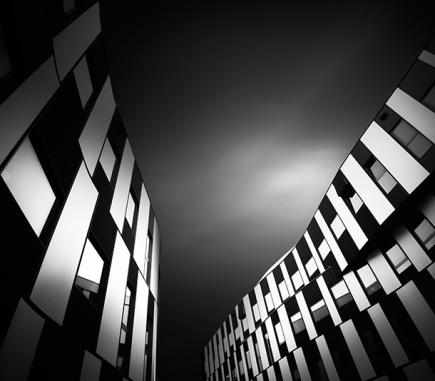 Vienna University of Economics and Business III, B&W Architecture Fine Art series