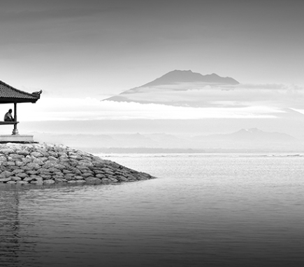 Jimbaran Beach, Bali - B&W People Fine Art Series