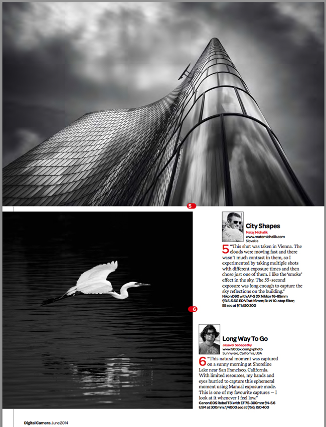 Digital camera world published my architectural photo for How to get my photographs published