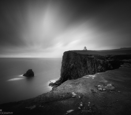 Dyrholaey Lighthouse, Iceland - B&W Seascapes/Landscapes Fine Art Series