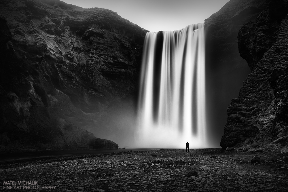 Skogarfoss, Iceland - B&W Seascapes/Landscapes Fine Art Series