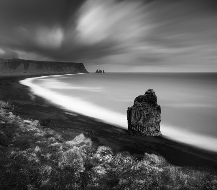 Dyrholaey beach, Iceland - B&W Seascapes/Landscapes Fine Art Series