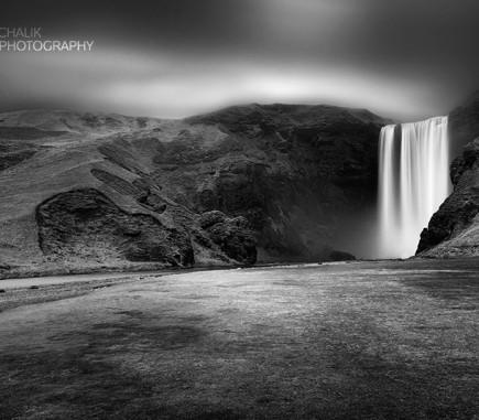 Skogarfoss II, Iceland - B&W Seascapes/Landscapes Fine Art Series