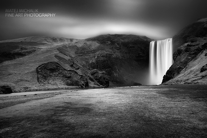 Skogarfoss II, Iceland - B&W Seascapes/Landscapes Fine Art Series