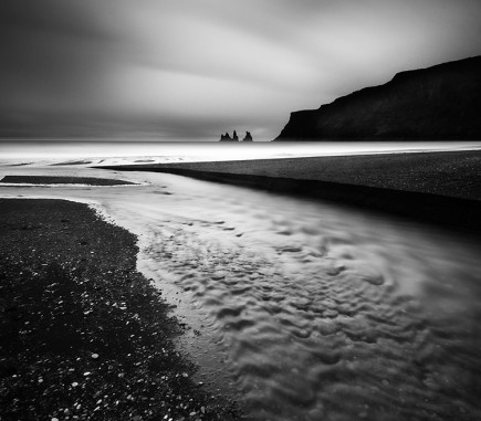 Beach near Vik, Iceland - B&W Seascapes/Landscapes Fine Art Series