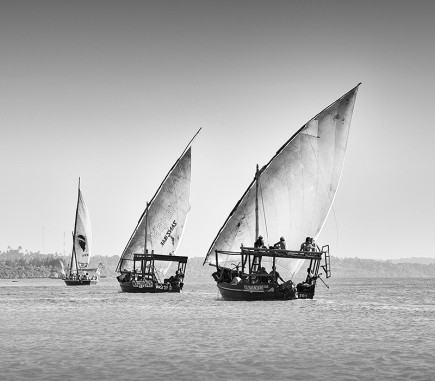 Dhow Cruise, Zanzibar - B&W People Fine Art Series