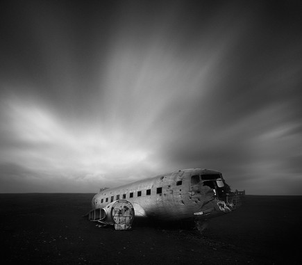 Airplane Wreckage II, Iceland - B&W Seascapes/Landscapes Fine Art Series