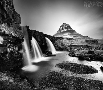 Kirkjufell Mountain II, Iceland - B&W Seascapes/Landscapes Fine Art Series