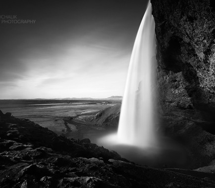 Seljalandsfoss II, Iceland - B&W Seascapes/Landscapes Fine Art Series