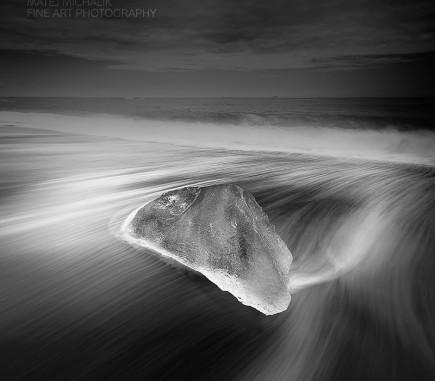 Glacier, Jokulsarlon, Iceland - B&W Seascapes/Landscapes Fine Art Series