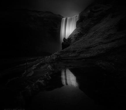 Skogarfoss III, Iceland - B&W Seascapes/Landscapes Fine Art Series