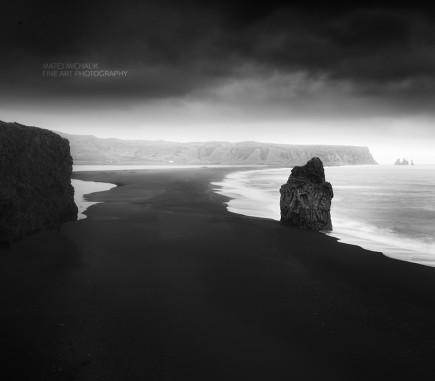 Dyrholaey Beach II, Iceland - B&W Seascapes/Landscapes Fine Art Series