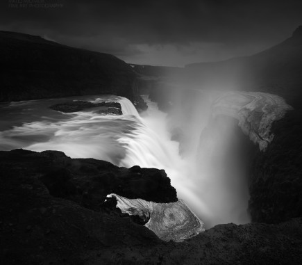 Gullfoss, Iceland - B&W Seascapes/Landscapes Fine Art Series